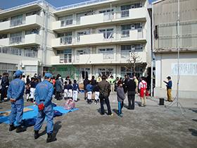 みたけ台小学校 防災訓練3