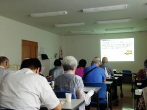 9月15日 たちばな会 定例会が開催され、引き続き「老人ホームの種類と選び方」の話がありました。