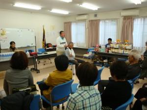 11月15日 町内会館にて防災訓練が行われました。