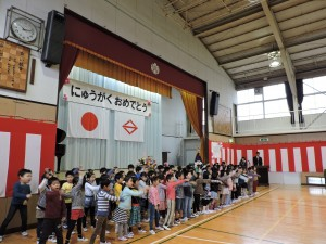 みたけ台小学校  歓迎式