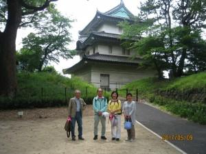 本丸の遺構では最も古い富士見櫓