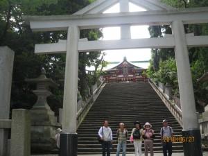 6.日枝神社神門と表参道大鳥居