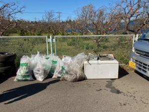 鶴見川西岸清掃
